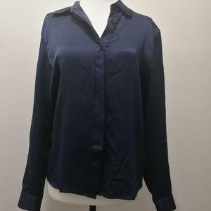 Lilysilk Blue Charmeuse Silk Blouse